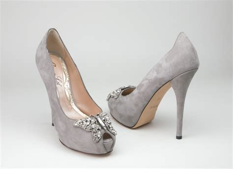Wedding Shoes by A Wedding Addict Grey Wedding Shoes