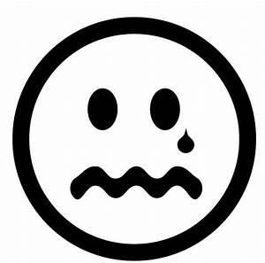 Sad face clipart black and white free clipart images ...
