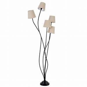 Lampadaire Maison Du Monde : lampadaire en m tal et tissu h 158 cm toscane maisons du ~ Premium-room.com Idées de Décoration