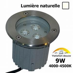 spot led 9w encastrable lumiere naturel rgb eclairage With porte d entrée pvc avec kit spot led encastrable salle de bain