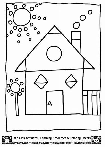 Coloring Shape Sheet Shapes Worksheets Pages Printable