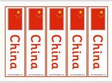 China Flag Printables