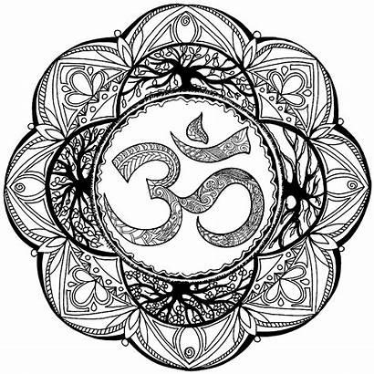 Mandala Om Symbol Complex Coloring Mandalas Patterns