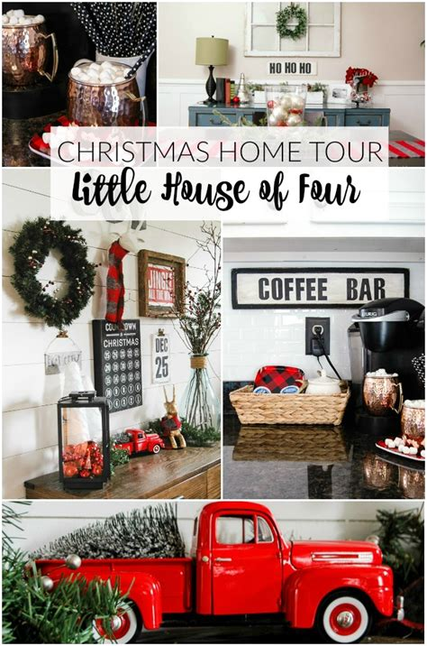 very merry christmas home tour little house of four creating a beautiful home one thrifty