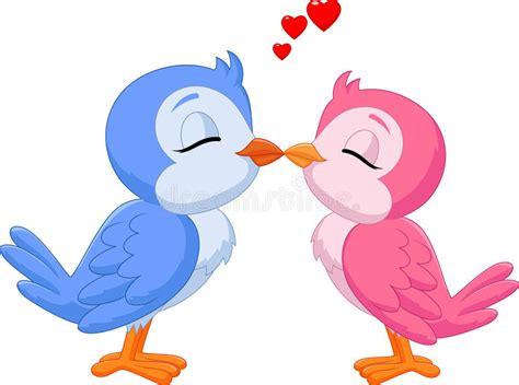 Cartoon Kissing Love Bird