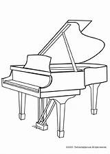 Piano Coloring Musical Grand sketch template