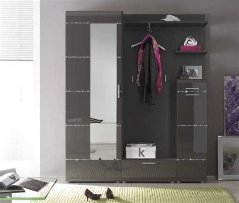 Badezimmermöbel Xora by M 246 Bel Garderoben Set 5 Teilig In Anthrazit Hochglanz