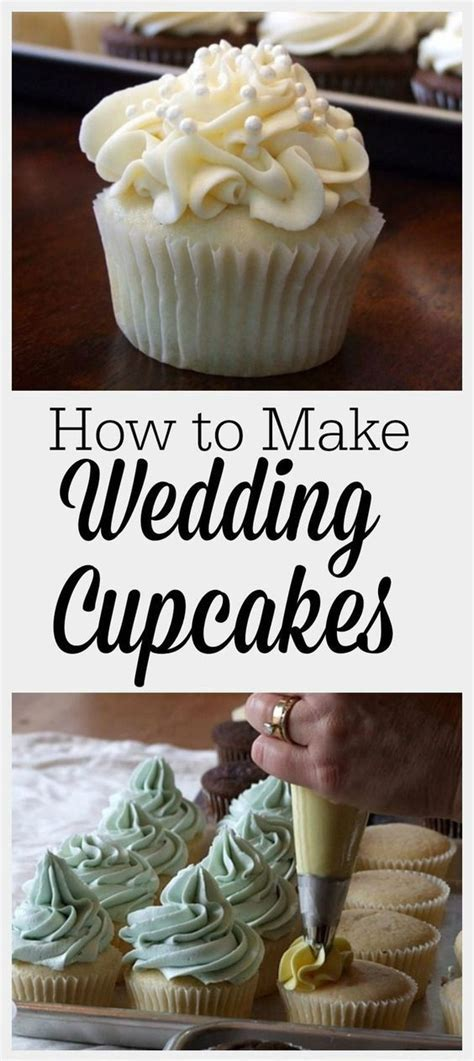 Use a baking nail placed in the center of the cake for pans 10 and larger. How to make Wedding Cupcakes | White cupcake recipes ...