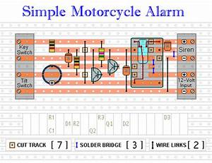 Wiring Material  Motorcycle Alarm With Transistor Circuit Diagram