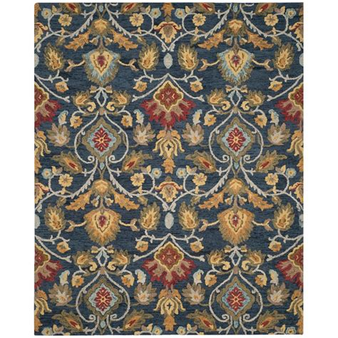 safavieh blossom rug safavieh blossom navy multi 8 ft 9 in x 12 ft area rug