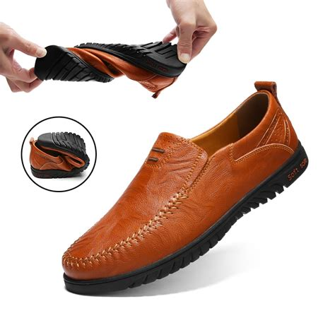 genuine loafers shoes tenis masculino handmade moccasins soft