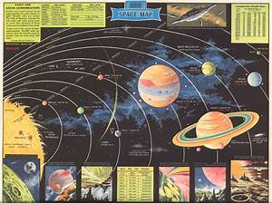 Rand McNally Modern Space Map from 1959 | RetroRockets