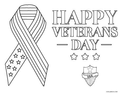 free printable veterans day coloring pages for