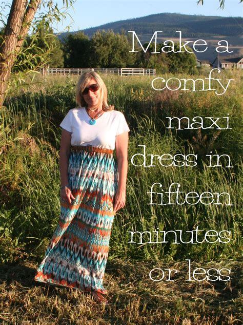 refashion  op easy diy maxi dress