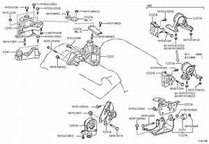 Toyota Rav 4 Bracket  Engine Mounting  Front For