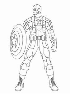 Colering Page Marvel Captain America Coloring Pages Coloring Home