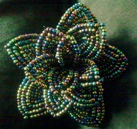 silver black french beaded flowers  beaded flower