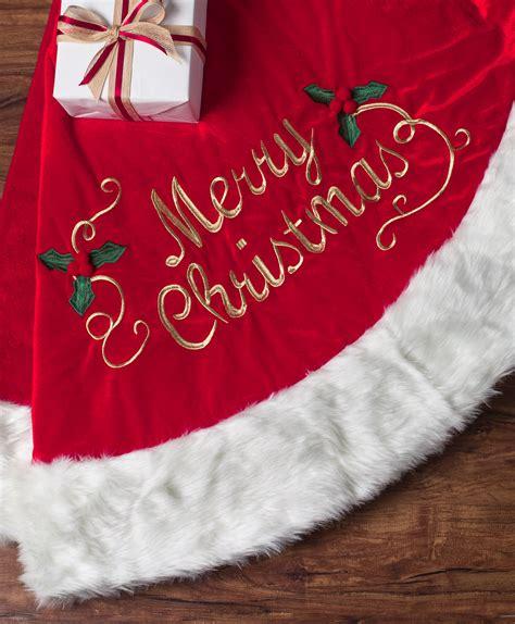merry christmas velvet tree skirt tree classics