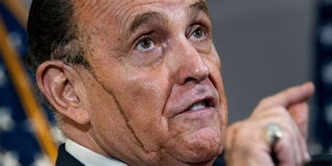 Formerly mayor of new york city, giuliani was briefly a leading candidate for the republican nomination in the 2008 united states presidential election. Rudy Giuliani: Internet reacts to Trump lawyer press conference   indy100   indy100