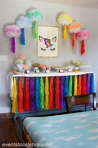 Unicorn, Party, -, Decorations, And, Food