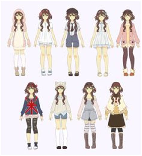 New free templates, bases, poses, references for drawing anime and manga or ych. Anime Girl Fashion