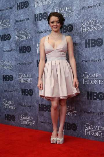 actor rose game of thrones crossword maisie williams who plays arya stark stops on the red