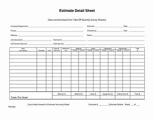 data carried forward from takeoff quantity survey sheet With take off sheet template