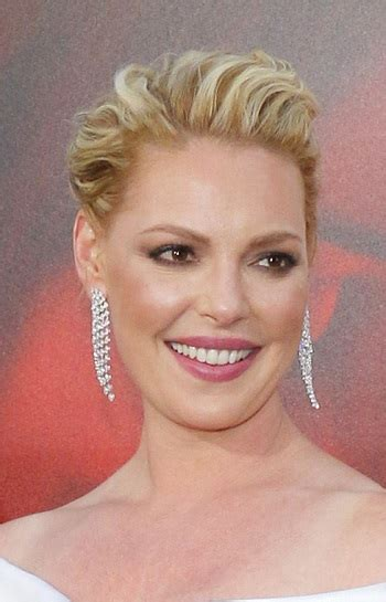 hairstyles katherine heigl textured updo