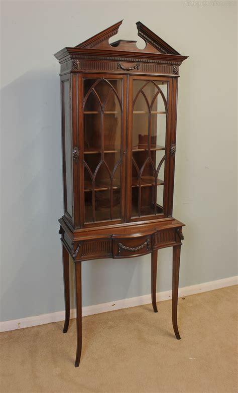 mahogany display cabinet antique edwardian mahogany display cabinet antiques atlas 3954