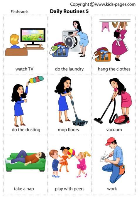 logo werkwoorden  pinterest daily routines flashcard