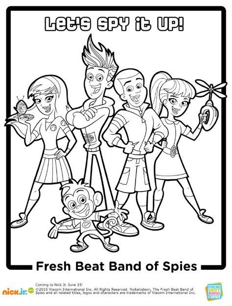 fresh beat band coloring pages eskayalitim