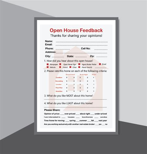 real estate open house kit printables  realtor