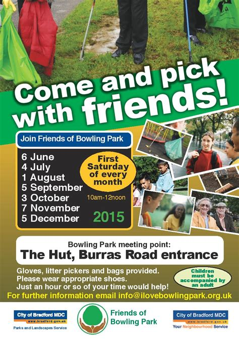 Community Litter Picking in Bowling Park dates for 2015 ...