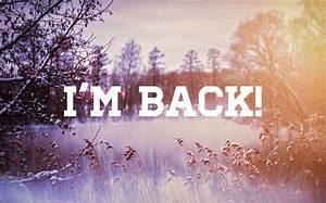 i'm back – D. W. Metz