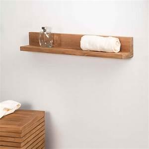 Ikea Tablette Murale : tablette tag re cam lia salle de bain en teck massif 70cm ~ Teatrodelosmanantiales.com Idées de Décoration
