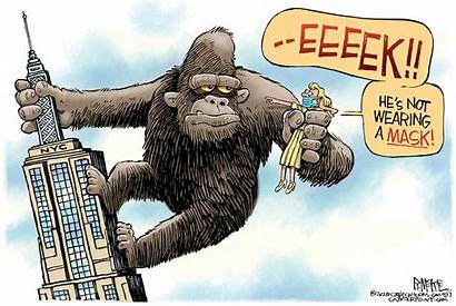 Editorial Cartoon Cartoons Mask April Wearing Popular