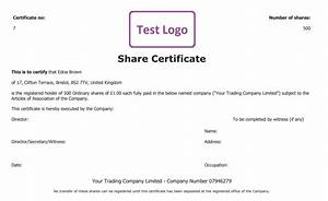 Share certificate free template create manage and cancel for Share certificate template companies house