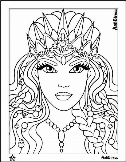 Coloring Pages Adult Woman Adults Sheets Books