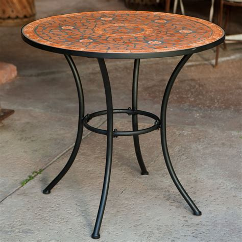 coral coast terra cotta mosaic bistro table patio dining