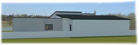 plan maison 6 chambres maison contemporaine avec toit plat et toit monopente à