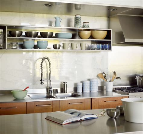 kitchen design idea  examples  open shelving