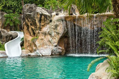 swimming pool waterfalls pictures 80 fabulous swimming pools with waterfalls pictures