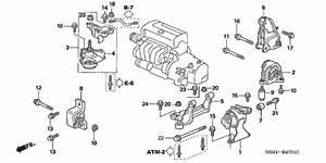 Engine Mounts  At  For 2002 Acura Rsx Hatchback