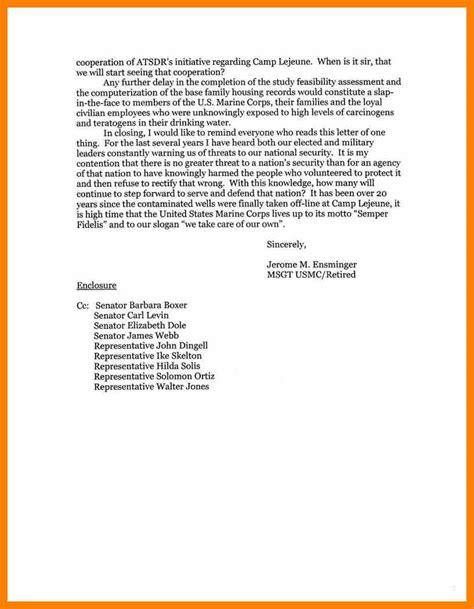 sle business letter format with business letter sle enclosure cc 28 images business