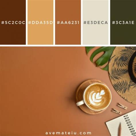 The page contains brown and similar colors including their accompanying hex and rgb codes. #coffee #coffee #vintage in 2020 | Brown color schemes, Brown color palette, Color palette yellow