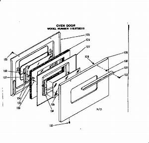 Oven Door Diagram  U0026 Parts List For Model 1199748310