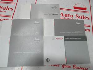 2011 Nissan Altima Owners Manual Set