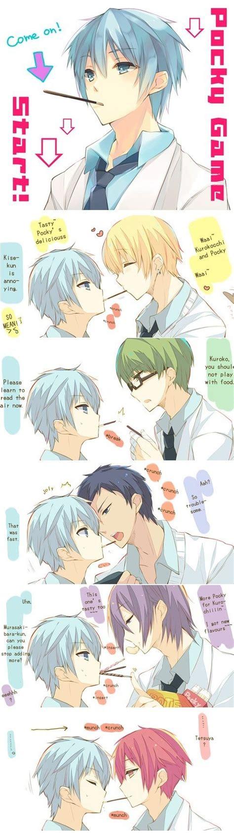 tags anime eating pocky kuroko no basket kise ryouta