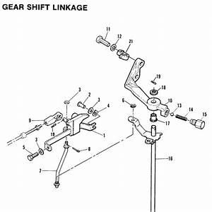 Mariner 55 Hp Gear Shift Linkage Parts