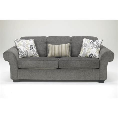 ashley makonnen chenille queen size sleeper sofa in